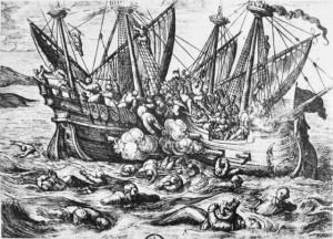Tomado de:  http://cincodays.com/2013/07/03/conociendo-la-historia-jolly-roger-origenes-del-nombre-del-pabellon-pirata/