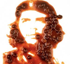 Che Fríjol, 2000.  Obra de Vik Muniz.  En: http://www.icp.org/museum/exhibitions/che-revolution-and-commerce