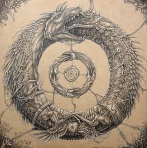 Uróboros, la serpiente de la mitología egipcia que se come así misma (Tomada de: http://bit.ly/1eyg4RF) – La analogía de la serpiente como el ser humano que intenta extender su vida en la eternidad.