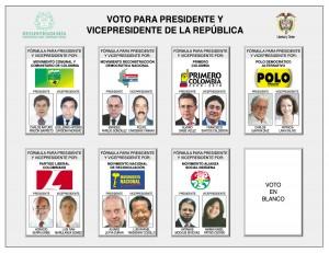 Colombia (Tarjeta Electoral presidencial 2006)