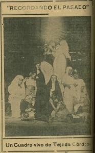 Cuadro vivo dirigido por Benjamín Tejada Córdoba. Facsímil de El Diario, No. 2.000, septiembre 30 de 1935.