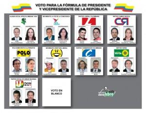 Trjeta electoral 2010