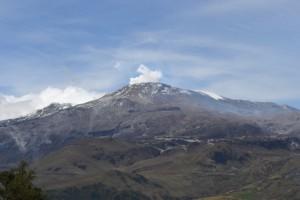 Foto actual del Nevado del Ruiz. Foto por: Sebastián Aguilar.