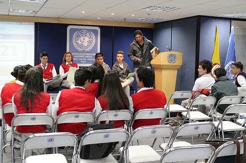 Clase en un colegio de Bogotá. Foto: Cinu Bogotá