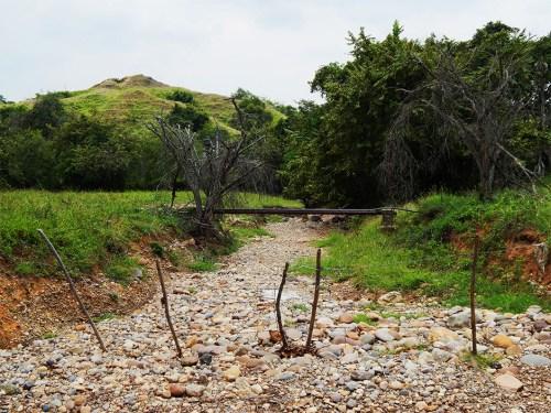 Quebrada San Jorge en estado de sequía (Foto: Angie Salazar).