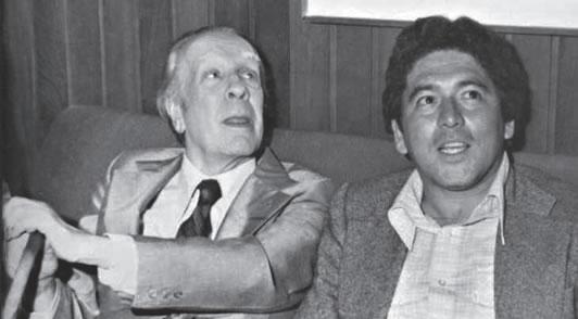 Borges y Harold Alvarado Tenorio en Islandia.  Foto Norman Thomas Di Giovanni