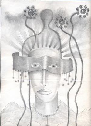 "Dibujo a lápiz de Jorge Carvajal ""Chirico""."