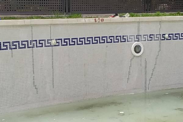 piscina reparada en seco