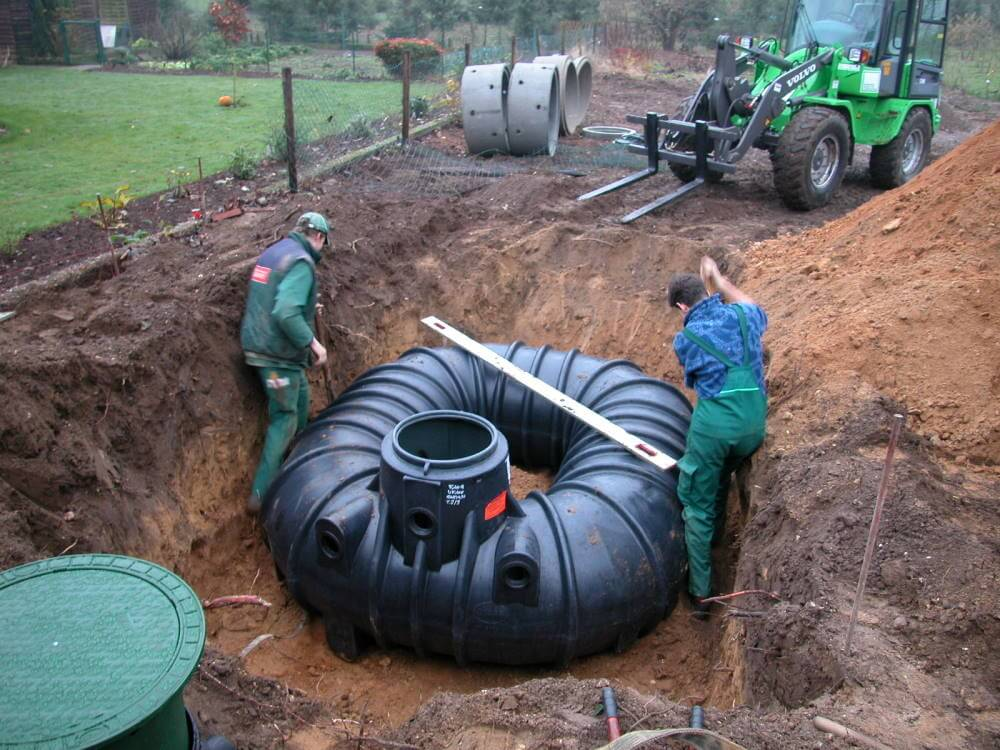 Montage des Regenwassermanagement