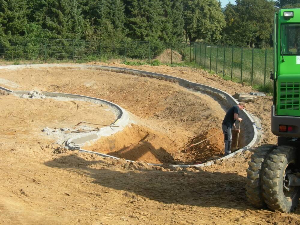 Der Bau von Wasserbecken und Teiche