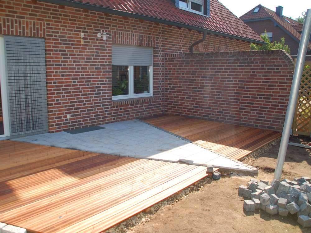 Terrasse Tali Hartholz und Granitplatten