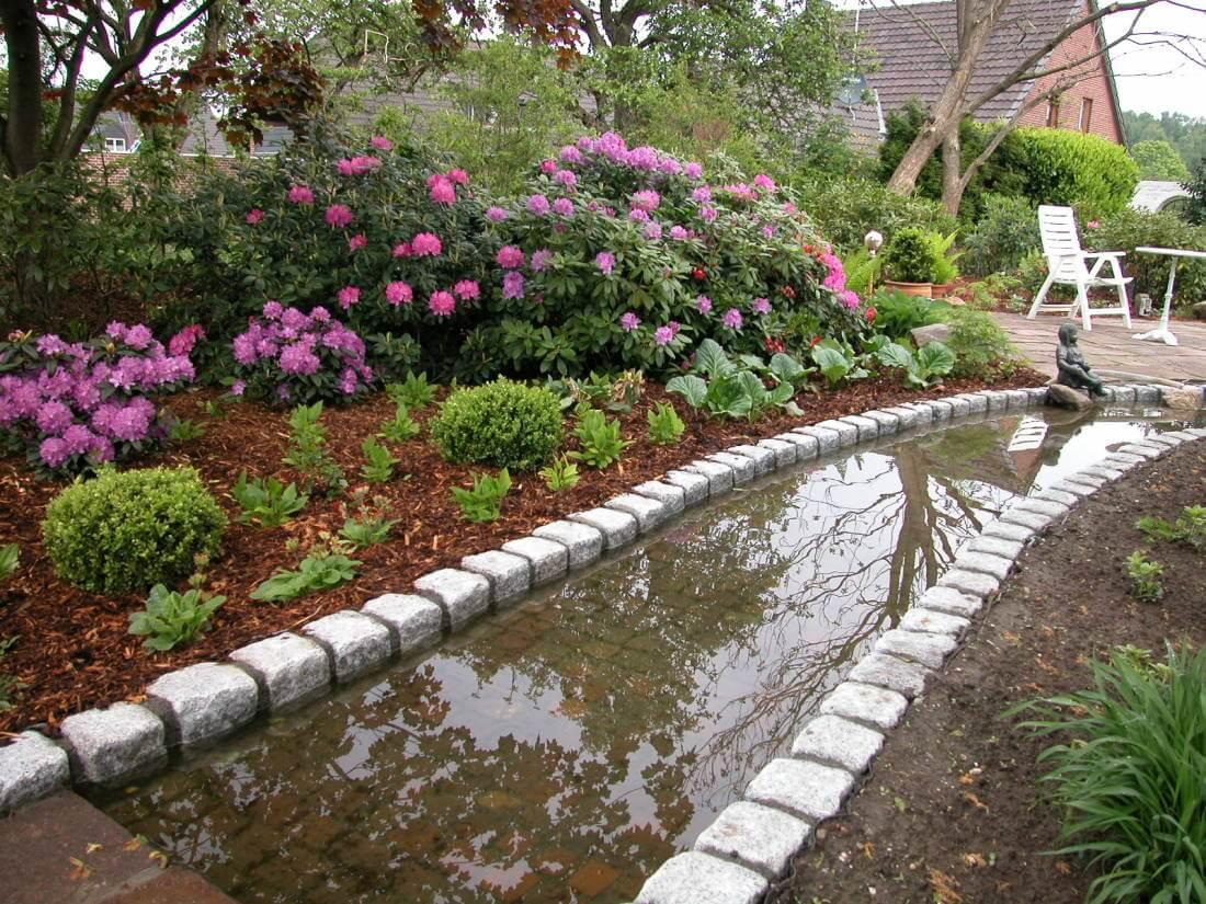 Wasserlauf im garten wasser im garten ideen fur for Gartengestaltung design