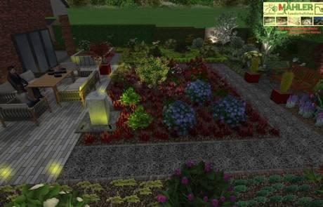 3D Beleuchtungsplanung für den Garten