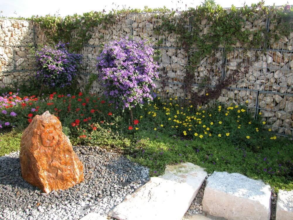 Gabionen galabau m hler steinkorb - Garten gabionen ...