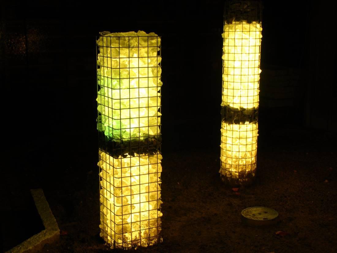 leuchtgabionen galabau m hler traumgarten gabionenlicht. Black Bedroom Furniture Sets. Home Design Ideas