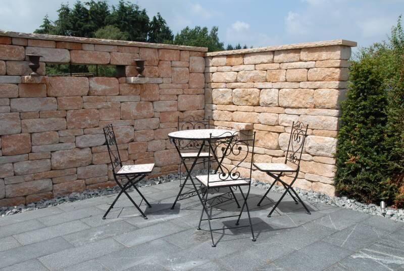 Sitzplatz im Garten  Galabau Mähler  Traumgarten