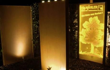Gartenbeleuchtung Acrylglas