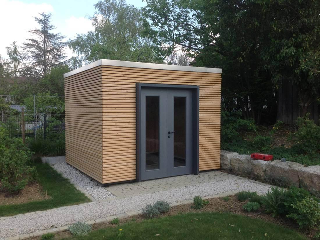 Gartenhaus modern Cubus