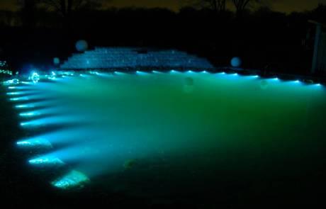 Glasfaser Lichttechnik Garten