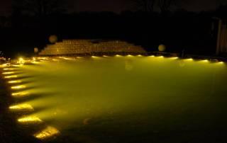 Glasfaser Teichbeleuchtung