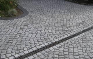 Granitpflaster mit der Größe: 7/9 cm im Passeverband