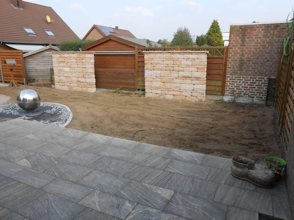 Granitplatten Terrasse