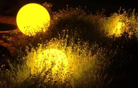 gelbe Moonlight Kugelleuchte