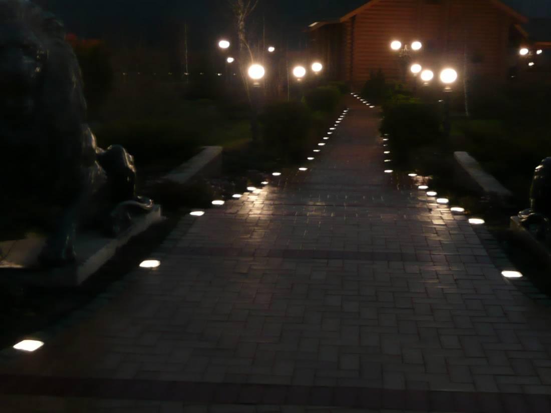 LED Leuchtstein Terrasse