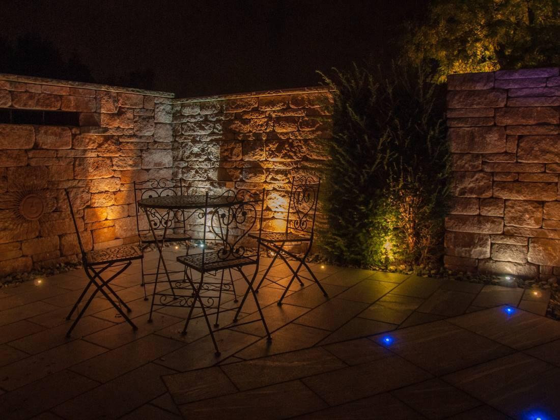 Hervorragend LED Lichtpunkte Terrasse | Galabau Mähler | Traumgarten JW45