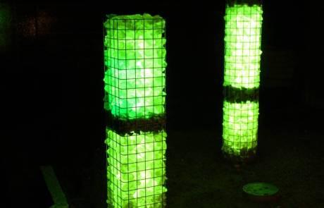 Leuchtgabione Garten