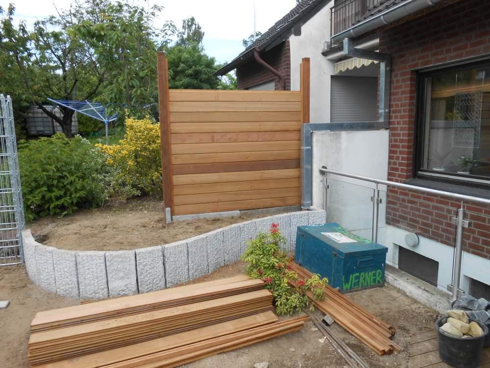 palisaden granit garten | traumgarten, Garten ideen