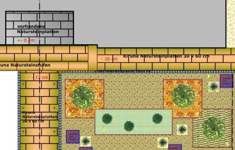 Gartenplanung eines Vorgarten in Goch
