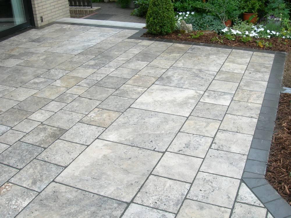Platten travertin terrasse traumgarten - Terrasse natursteinplatten ...