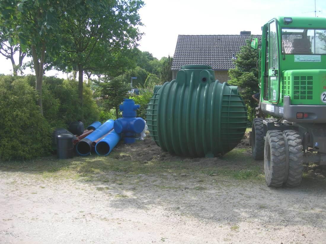 Regenwassertank Garten