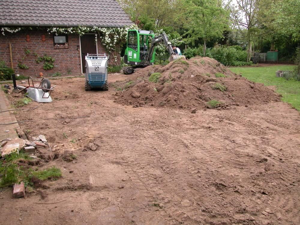 naturnaher Garten wird gebaut