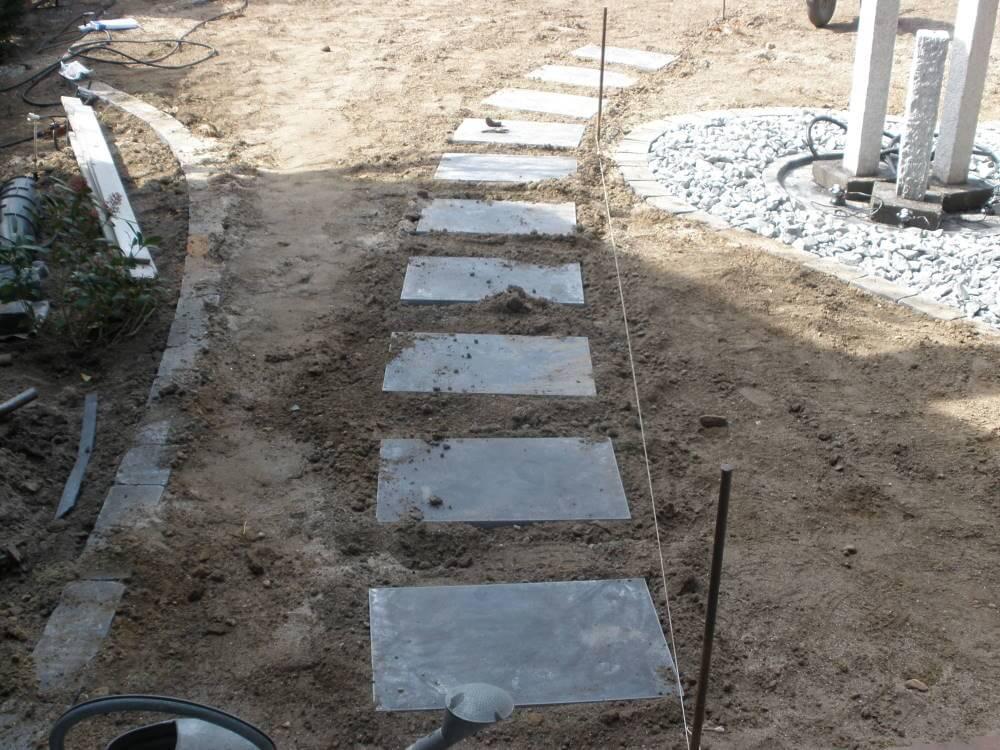 Schrittplatten