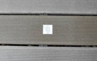 LED Einbaustrahler in WPC
