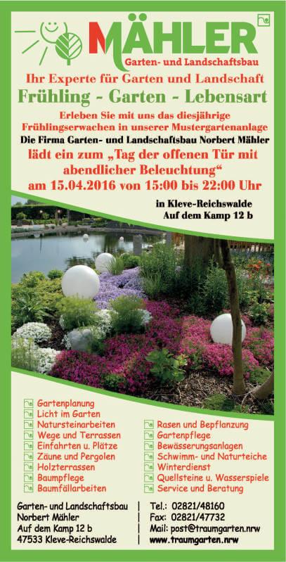 Offener Garten Kleve 2016 | Galabau Mähler | Traumgarten