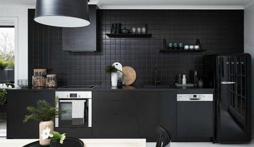 Cocinas de color negro, un diseño muy interesante