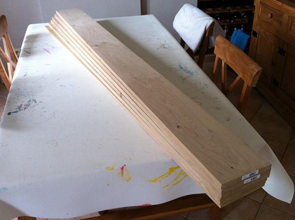Travailler le bois planche de chêne