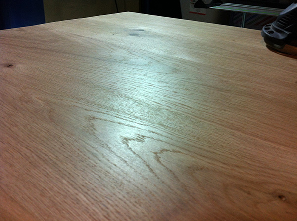 Travailler le bois table chêne Festool Rotex