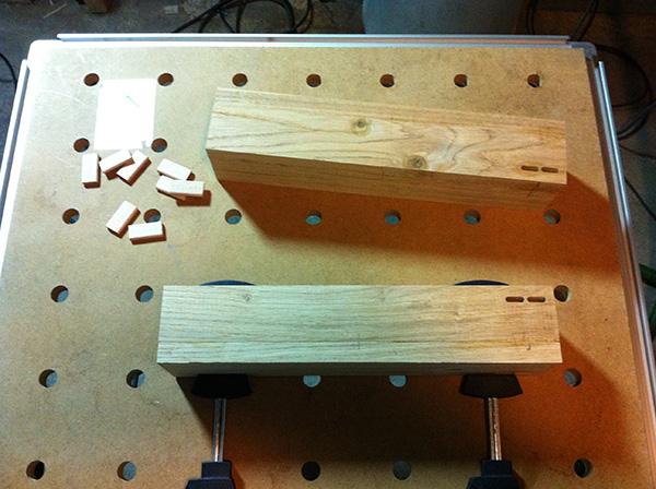 Travailler le bois table chêne Festool Domino