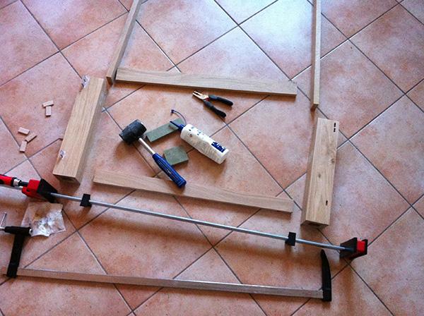 Travailler le bois table chêne Bessey Kleiberit