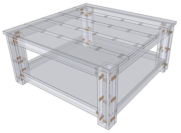 SketchUp assemblage Festool Domino
