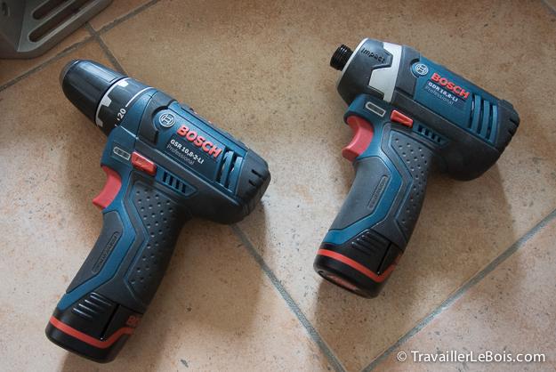 Visseuse Bosch GSR 10.8 et GDR 10.8