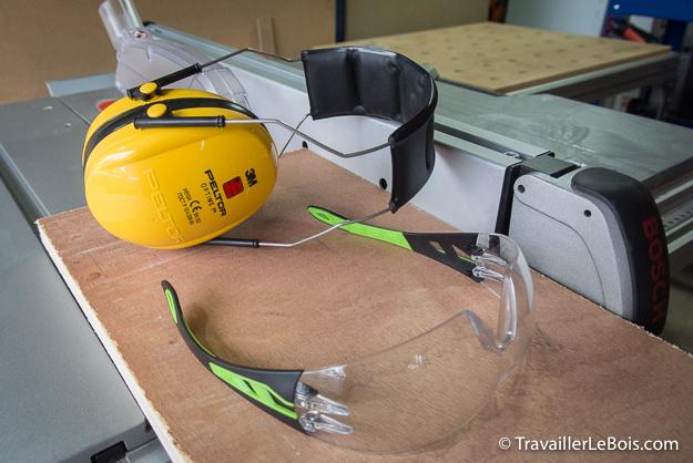 Casque anti-bruit 3M PELTOR et lunettes de protection UVEX