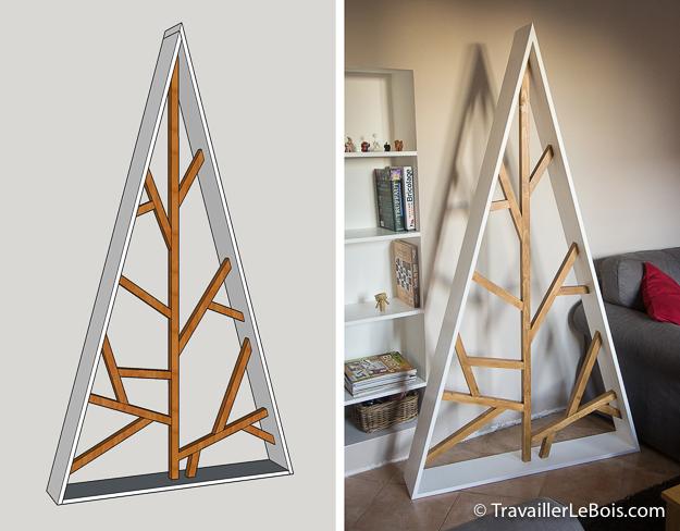 Un sapin de no l design en bois - Sapin de noel bois design ...