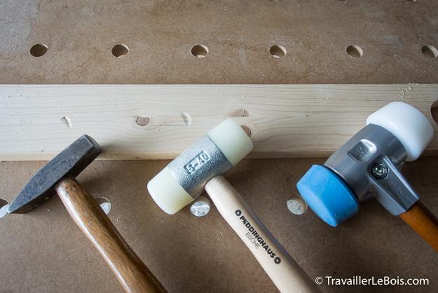 Maillets pour le travail du bois