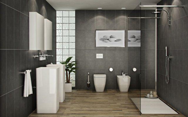 une douche pratique et fonctionnelle