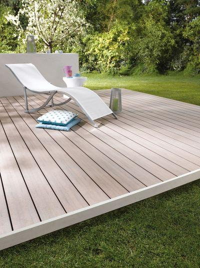 terrasse en bois composite look effet